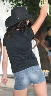 Girl wearing Shorts