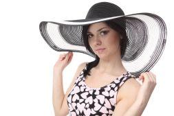 Girl wearing a Black Hat