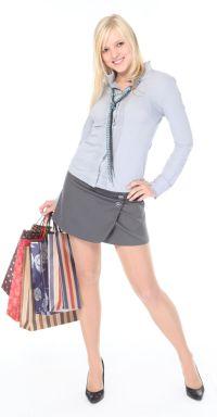 Girl Wearing a Wrap Skirt