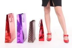 Shopping Bags and Standing Girl