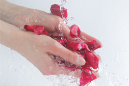 Rose petals Hand Washing