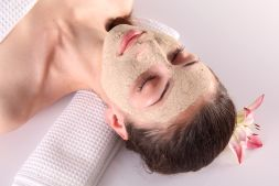 Women in spa with face mask